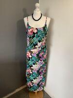 Women's Size 14 ☀️ Originals Vibrant Summer Sleeveless Floral Print Maxi Dress