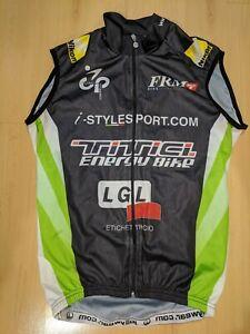 JOLLYWEAR Full Zip Vest Cycling Jersey Men's S