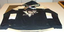 NHL Hockey Reebok Edge Team Jersey Hoodie Hoody Sweatshirt Pittsburgh Penguins M