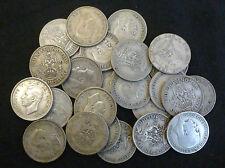 BULK Lotto di 25 CIRCOLATI pre 1947 SILVER SCELLINI .500 GEORGE V + GIORGIO VI