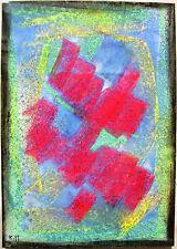 Hans Werner Kirchner 1908-1965 Stuttgart / grelle abstrakte Komposition / 1959