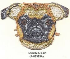 """2"""" x 3"""" Tan Brussels Griffon Dog Breed Portrait Embroidery Patch Applique"""