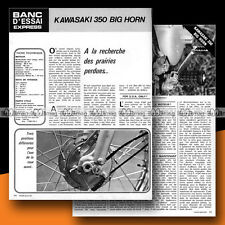 ★ KAWASAKI 350 BIG HORN ★ 1972 Essai Moto / Original Road Test #b9