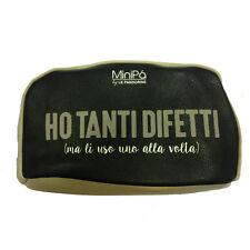Beauty porta oggetti MINIPA in eco-pelle nero con zip 19x11x8cm