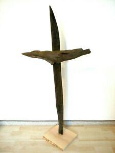 Mooreiche Edelholz Fossil Eiche Deko Baumstamm Skulptur Statue Holz Kunst  1,10m