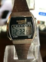 Dugena Quartz 1980er Damen Armbanduhr  Digital LCD neue Bat