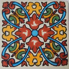 100 Mexican Talavera Decorative Handmade Tiles Folk Art C207