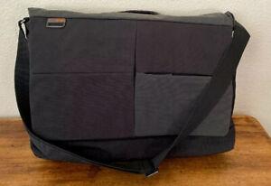 Nava Attache Brief Case Lap Top Bag Black/Blue Nylon! Super Lightweight!