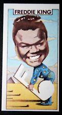 Freddy King   American Electric Blues Guitarist   Original 1970's  Card  # EXC