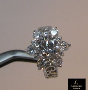2.4 ct White Diamond  Engagement - Promise Ring Silver  *