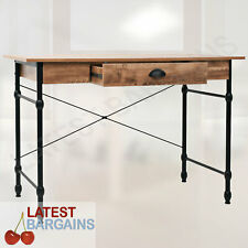 Writing Computer Desk Storage Drawer Console Table Industrial Style Study Office