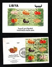 2014- Libya- Vegetables sheetlet of 6 stamps,MNH** and FDC