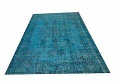 "9'5"" x5'8""  Vintage Turquoise  blue aqua teal boho  oushak vintage rug carpet"
