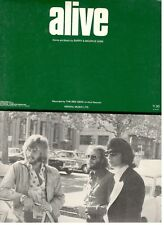 """THE BEE GEES """"ALIVE"""" SHEET MUSIC-PIANO/VOCAL/GUITAR/CHORDS-1972-VERY RARE-NEW!!"""
