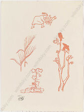 """Aristide Maillol (1861-1944) """"Plant Studies"""", Woodcut (Nr. 85/100), Early 20th C"""