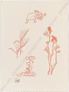"Aristide Maillol (1861-1944) ""Plant Studies"", Woodcut (Nr. 85/100), Early 20th C"