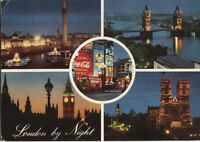Alte Postkarte - London by Night