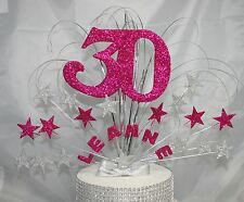 0052 CAKE TOPPER 18TH 21ST 30TH 40TH 50TH CAKE DECORATION STAR BURST CAKE SPRAY