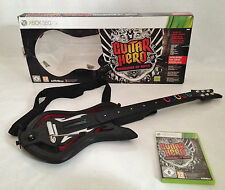 MIcrosoft Xbox 360 Guitar Hero Warriors Of Rock & Inalámbrico Guitarra En caja PAL Reino Unido