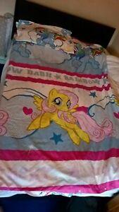 Girls My Little Pony girls Duvet Cover & pillow case RETIRED DASH RAINBOW 2014