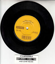 """PERRY COMO  And I Love You So & It's Impossible 7"""" 45 NEW + juke box title strip"""