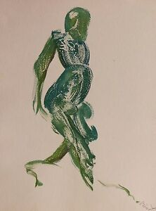 THE WALKER original drawing painting PERSONNAGE character BODY figure ARTWORK