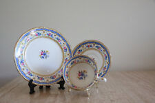 Vintage Paragon Blue/ White cup & Saucer trio / appointment to HM the Queen (137