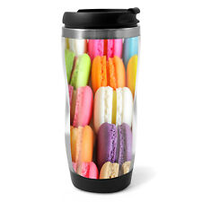 Colourful Macaroons Travel Mug Flask - 330ml Coffee Tea Kids Car Gift #16858
