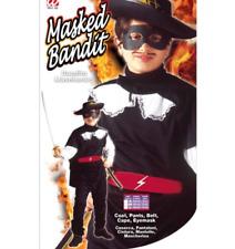 Zorro Bandito Mascherato - Vestito Abito Carnevale per Bambino 11-13 Anni 158cm