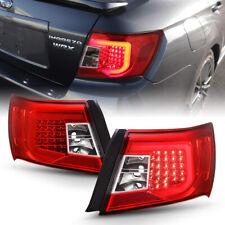 For 08-11 Subaru Impreza/WRX Sedan <RED CLEAR> LED Light Tube Tail Brake Lamp