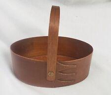 Sewing box basket wood finger lap handle Shaker Community antique original 1800s