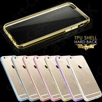 New iPhone 7/6/6s/5/5c/4s Case Transparent Crystal Clear Case Gel TPU Soft Cover