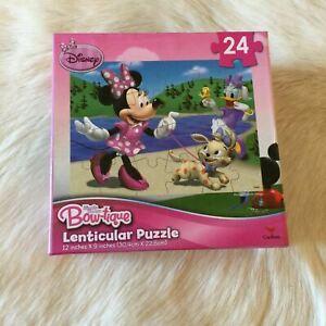 Disney MINNIE MOUSE Bow-tique Lenticular Puzzle Jigsaw 24 Pieces DAISY DUCK Dog