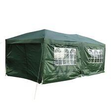 3 x 6m Garden Heavy Duty Pop Up Gazebo Marquee Party Tent Green