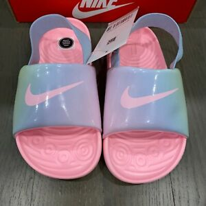 Nike Kawa Artic Punch Pink Slide Strap Back Sandals CW1658-600 Toddlers Sz 10C