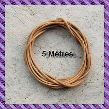 1 cordon cuir longueur 5 Métres  diamétre 2 mm en un seul morceau