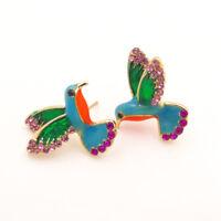 Boho Styles Colorful Bird Swallow Hummingbird Simple Ear Studs Earring Jian