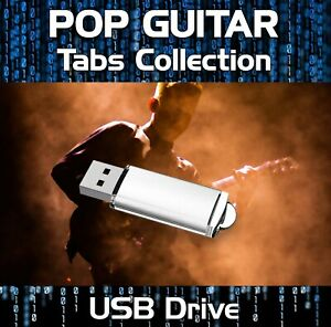 Over 1200 - 60s-90s Pop & Rock Guitar Tabs Tablature Lesson Software USB