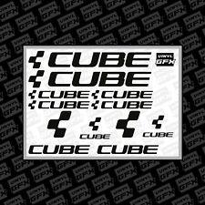 CUBE bike stickers - sticker pack - mtb - bmx - cycling - black - enduro
