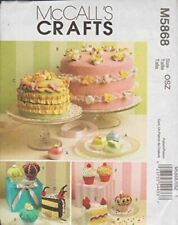 McCalls Sewing Pattern 5868 Sachets Pincushions Magnet Cake Cupcakes Craft