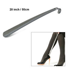 "20"" Professional Stainless Steel Long Handle Shoe Horn Lifter Shoehorn Silver"