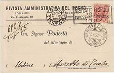 ROMA TORINO - RIVISTA AMMINISTRATIVA DEL REGNO 1927 X MERETTO DI TOMBA