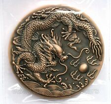 Exquisite 2012 Chinese Lunar Zodiac Dragon High-relief Large Copper Coin 80mm