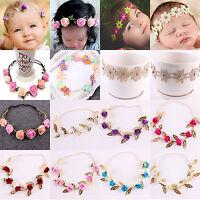 Cute Baby Girls Toddler Kids Elastic Leaf Flower Hair Band Headband Headwear