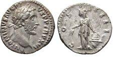Ancient Rome Antoninus Pius AD138-161 SILVER DENARIUS Annona Aehre Modius Prora