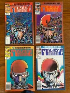 Machine Man #1-4 Limited Series Complete Marvel Comics, 1984, Barry Smith covers