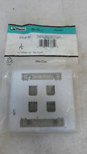 Panduit CFPL4S-2G4 Mini-Com 4 Position Stainless Steel Double Gang Faceplate