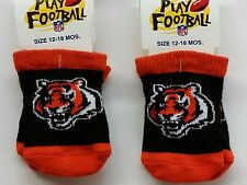 NFL Infant Baby Socks (Size 12-18 Months) Cincinnati Bengals #2-2 (2 Pair)