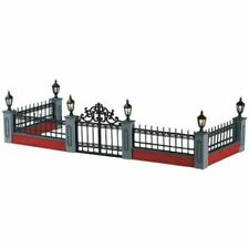 Lemax Lighted Wrought Iron Fence Gate Accessory Village 54303