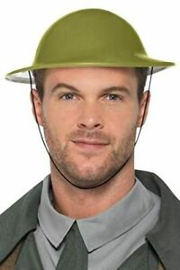 Adult WW2 Green Tommy Hat Fancy Dress Party Accessory